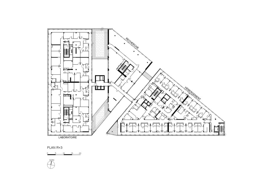 Plan R+3  - Institut Hospitalo-Universitaire, Marseille
